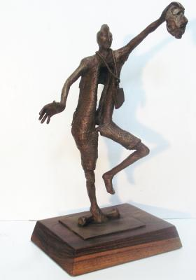 "Phillip Levine, Actor  Bronze, 2014, 13"" x 9"" x 6"""