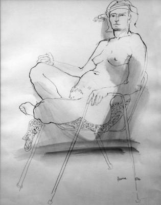 "Phillip Levine, ""Seated Woman 17"""