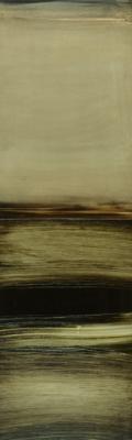 """Dale Lindman, """"Delta"""", 2014, oil & wax on Yupo, 15.75 x 4.75"""""""