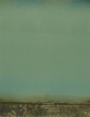"""""""Returning"""", 2014, oil & wax on Yupo, 8.75 x 7"""""""