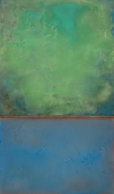 """""""Submerged"""", 2010, mixed media, 60.75 x 36"""""""
