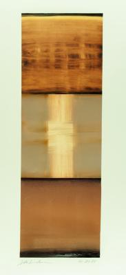 "Dale Lindman, ""Mirage"", 2015, oil on Yupo paper, 20.25 x 6.75"""