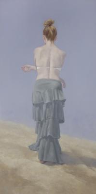 """Judy Nimtz, """"Litore I"""", 2018, oil on panel, 72"""" x 36"""""""