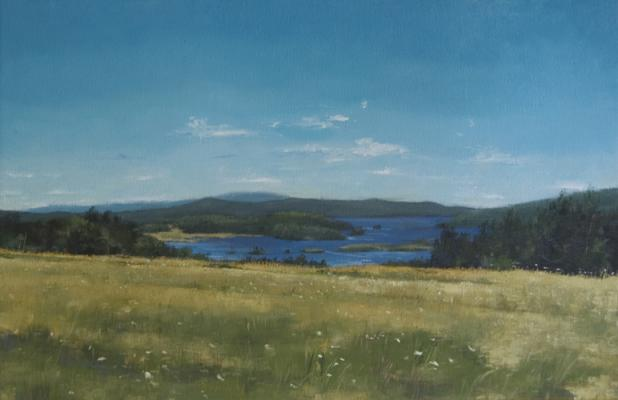 """Looking East"", 2014, oil on canvas, 12 x 19"""