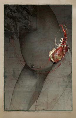 "Dianne Kornberg, ""Madonna Bomb 2"", 2012, archival pigment print, 31"" x 20"" image, 32.5 x 21.5"" framed"