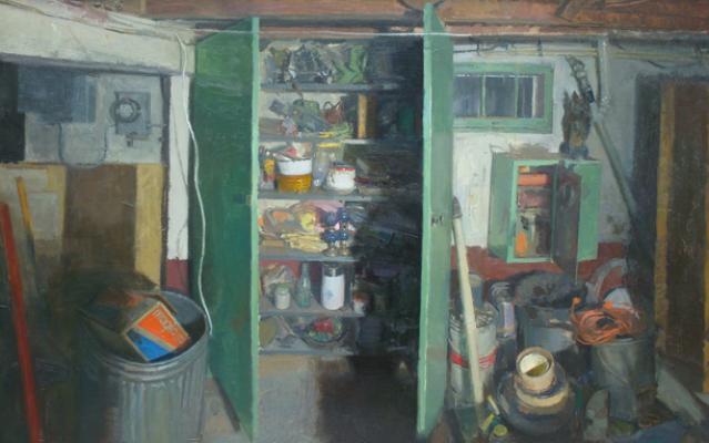 """Matt Klos, """"Treasure Chest"""", 2008, oil on panel, 19 x 30"""""""