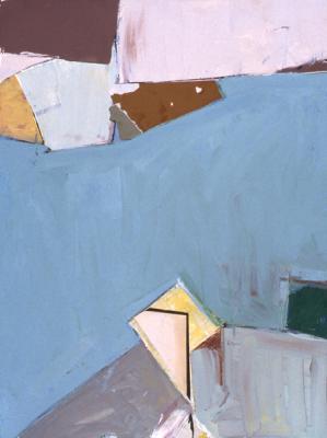 "Robert Perlman, ""Number 2"", 1993, acrylic on paper, 30 x 22"""