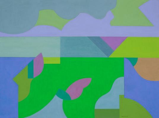 "Robert Perlman, ""Number 4"", 2011, acrylic on paper, 22 x 30"""