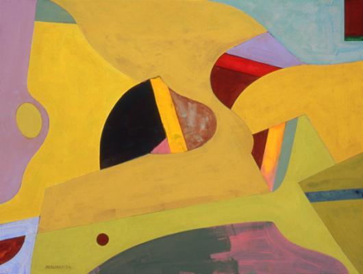 "Robert Perlman, ""Number 6"", 2009, acrylic on paper, 12 x 16"""