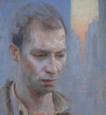 "Kenny Harris, ""Numb"", 2016, oil on linen, 24"" x 22"""