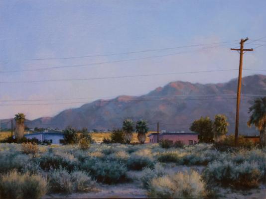 """Darlene Campbell, """"29 Palms Inn"""", 2011, oil on panel, 9 x 12"""""""