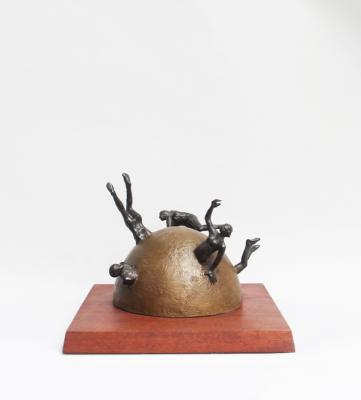 """Leave it Alone"" view 2, 2001, Bronze, 8.5"" x 9"""