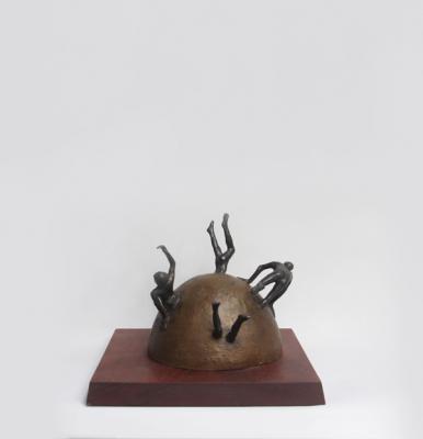 """Leave it Alone"" view 1, 2001, Bronze, 8.5"" x 9"""