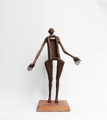 """""""Of Course"""" view 1, 2018, Bronze, 18"""" x 12"""" x 5"""""""