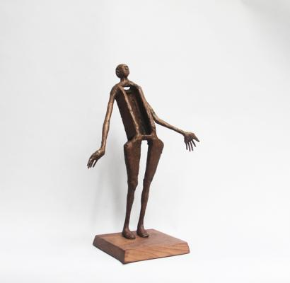 """Of Course"" view 2, 2018, Bronze, 18"" x 12"" x 5"""