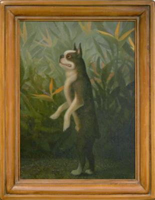 """Peter Zokosky, """"Pollux"""", 2004, oil on panel, 27"""" x 21"""" fr."""