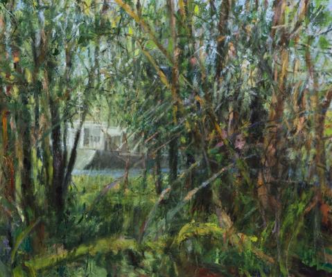 "Kathy Gore-Fuss, ""Portal I"", 2015, oil, 20 x 24"""