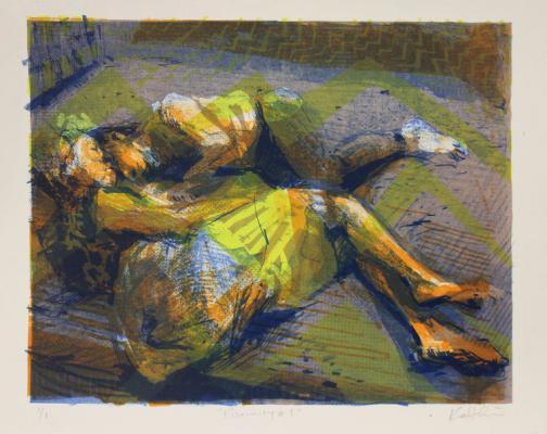 """Proximity #3"", ""Recline"", 2015, oil on canvas, 25 x 25"""