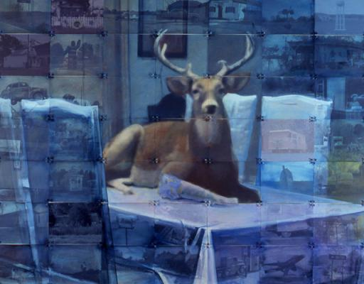 "Randy Hayes, ""Deer (Blue)"""