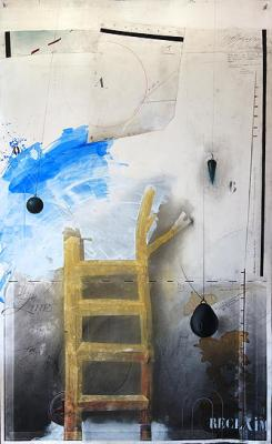 """ReClaim #1"", mixed media on paper"