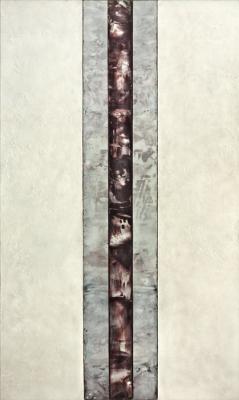 "Dale Lindman, ""Return to Grace"", 2016, encaustic on birch panels, 49.25"" x 29"""