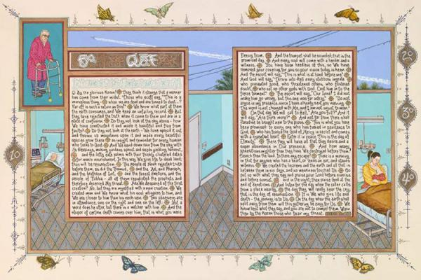 "Sandow Birk, ""American Qur'an: Sura 50"""