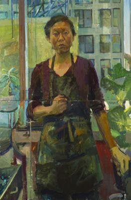 """Self Portrait KCMO"", 2016, oil on canvas 60 x 40"""
