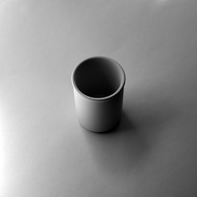 """Graham Shutt, """"White Cup 000a"""", 2015, Archival inkjet print 1/3, 1 AP, 14"""" x 14"""" framed"""