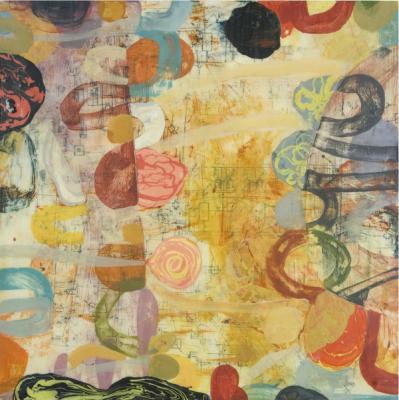 "Teresa Stanley, ""Begin Again"", 2008, acrylic on wood panel, 30 x 30"""