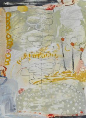 """Teresa Stanley, """"Demeter's Garden No. 11"""", 2013, acrylic/mixed media on paper"""