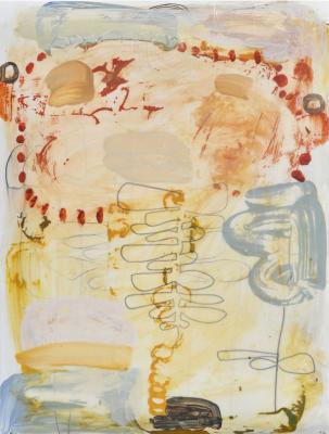 """Teresa Stanley, """"Demeter's Garden No. 1"""", 2013, acrylic/mixed media on paper"""