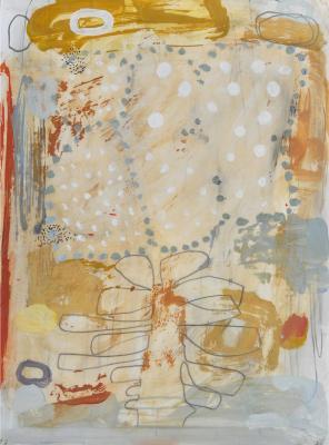 """Teresa Stanley, """"Demeter's Garden No. 3"""", 2013, acrylic/mixed media on paper"""