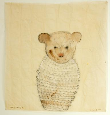 "Sherry Markovitz, ""Study for Mummy Bear"", 2007, gouache on paper, 21x20"""