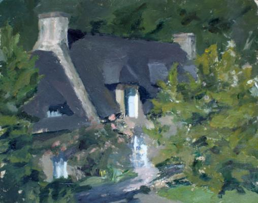 """Laura Swytak,""""House"""", 2013, oil on paper, 11 x 14"""""""