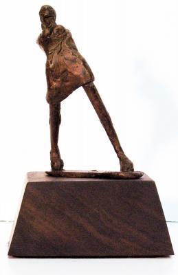 """Phillip Levine, """"Tripping"""", 2013, bronze, 5"""" x 2"""" x 2.4"""""""