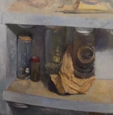 """Matt Klos, """"Earthen Vessels, 2013, oil on panel, 9 x 9"""""""
