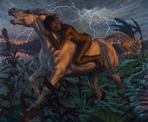"F. Scott Hess, ""Pale Horse"", 2011, oil on aluminum panel, 36"" x 48"""