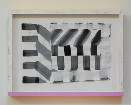 """Untitled (#16-18) 2018, acrylic/paper, 17"""" x 22 ¾"""" framed"""