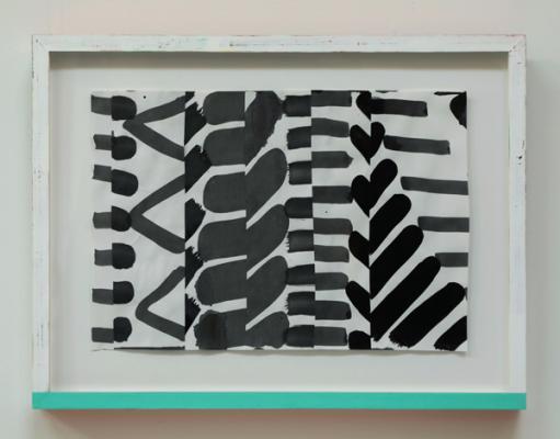 "Michael Howard, Untitled (#17-18), 2018, Acrylic/paper, 12"" x 17 5/16"" image"