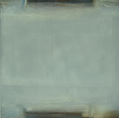 "Dale Lindman, ""Coastal #33"", 2014, oil on Yupo paper, 7 x 7"" im., 15.25 x 15.25"" fr."