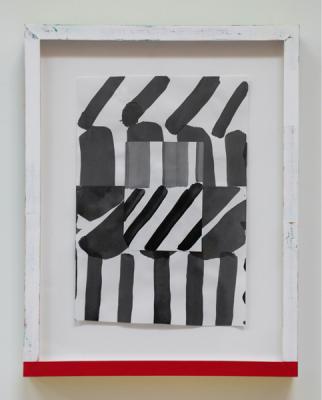 "Michael Howard, Untitled (#19-18), 2018, Acrylic/paper, 13"" x 8 7/8"" image"