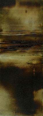 "Dale Lindman, ""Untitled 1"", 2014, oil on Yupo paper, 10 x 16"" fr."