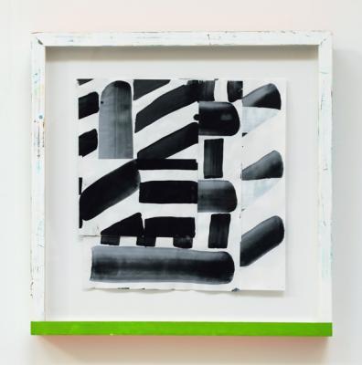 "Michael Howard, Untitled (#20-18), 2018, Acrylic/paper, 12"" x 11 3/4"""