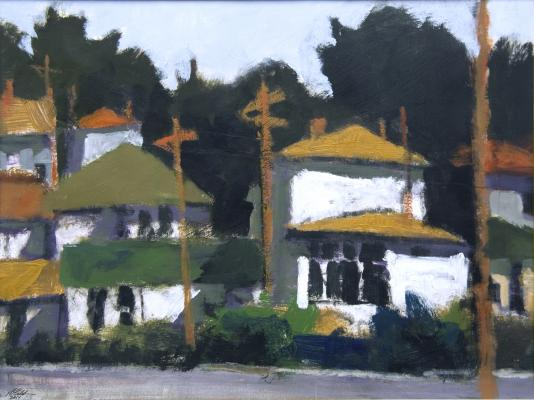 "Robert Schlegel, Landscape #1"", 2014, acrylic on paper"