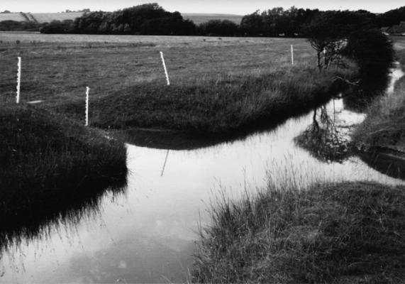 "Andrew Yates, ""Junction Drainage Streams, Cuckmere"", 2006, archival digital print ed. 2/12, 11.75 x 16.5"""