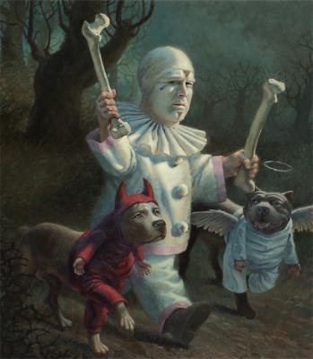 Peter Zokosky, Grand Marshall, 2011, oil on panel, 34 x 30""