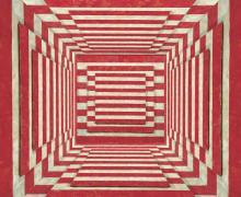 """""""Red Stripe Room"""", 2016, Archival Inkjet Print, ed. of 3, 20 x 20"""""""