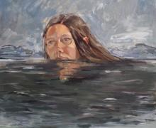 """""""Water"""", 2017, oil on canvas, 30"""" x 30"""""""