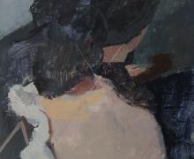 """White Coat"", 2016, acrylic, 10.75 x 16"""