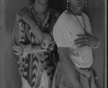 """Marcus and Edwin, circa early 1980s, silver gelatin print, 20 x 16"""" paper size"""